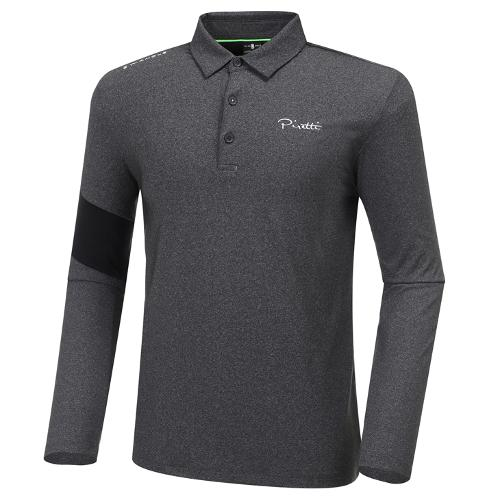 [와이드앵글] 남성 ELITE 피레티 등판 로고 긴팔 카라 티셔츠 M WMU20206C8