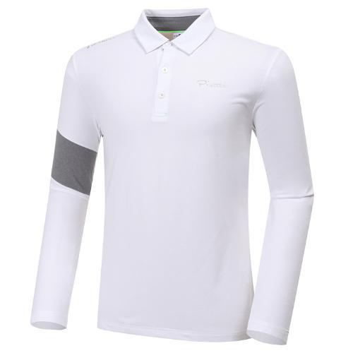 [와이드앵글] 남성 ELITE 피레티 등판 로고 긴팔 카라 티셔츠 M WMU20206W3
