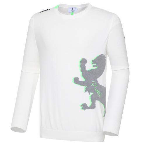 [와이드앵글] 남성 ELITE 피레티 전판 모티브 풀오버 긴팔 스웨터 M WMU20K01W3