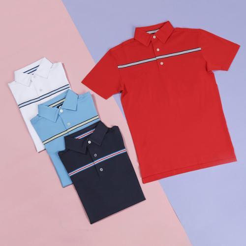 전시상품/풋조이 피케 체스트 스트라이프 셔츠