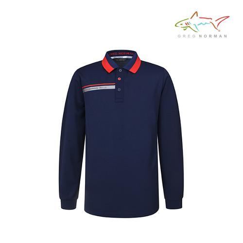 그렉노먼 남성 긴팔 골프 셔츠 UV차단 흡습속건 기능성