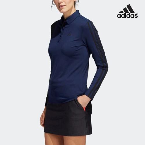 [아디다스골프 정품] GL8496 컬러 블럭 여성 폴로 긴팔 골프티셔츠