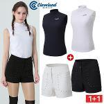 금주코디 [클리브랜드골프]시어서커 여성 민소매 티셔츠 + 포켓 금속장식 하이웨스트 숏반바지_CG10861105A