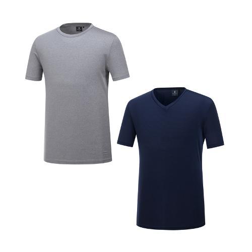 [10% 마일리지 행사상품][와이드앵글] 남성 트래블 반팔 티셔츠 패키지 (1+1) WMM19252N4
