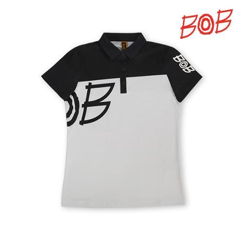 BOB 여성 빅사이즈 로고 티셔츠 - GBM2TS720_WH