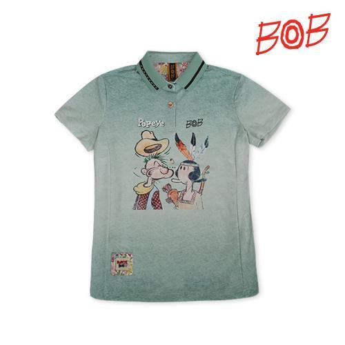 BOB 여성 뽀빠이 자수포인트 티셔츠 - GBM2TS600_GN