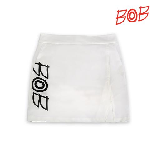 BOB 여성 솔리드 포인트 로고 큐롯 - GBM2PQ710_WH