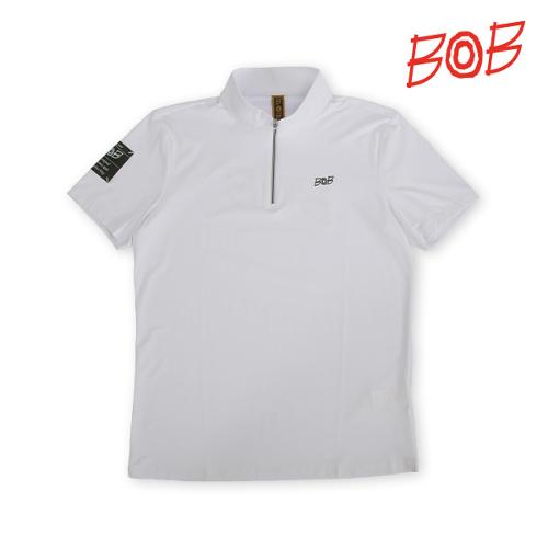 BOB 남성 로고포인트 반폴라 티셔츠 - GBM1TS750_WH