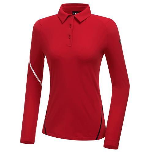 [와이드앵글] 여성 WL W.360 솔리드 카라 긴팔 티셔츠 L WWW20202R2