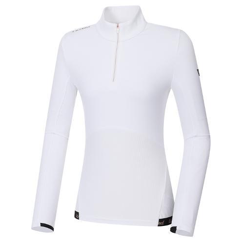 [와이드앵글] 여성 WL 반짚업 백기모 긴팔 티셔츠 L WWW20204W3