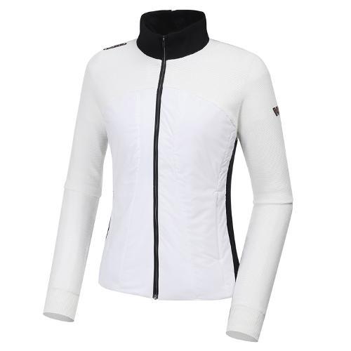 [와이드앵글] 여성 WL 하이브리드 패딩 풀짚업 방풍 긴팔 스웨터 L WWW20K03W3