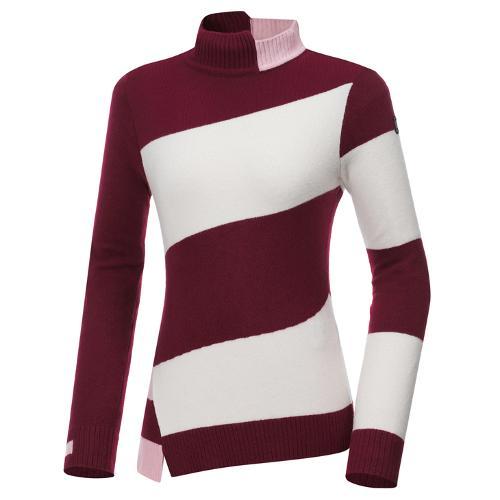 [와이드앵글] 여성 비대칭 스트라이프 긴팔 스웨터 L WWW20K44R8ㄱ