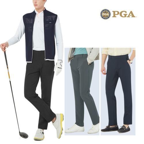PGA 남성 하이브리드 더블페이스 골프팬츠 POS02PT10
