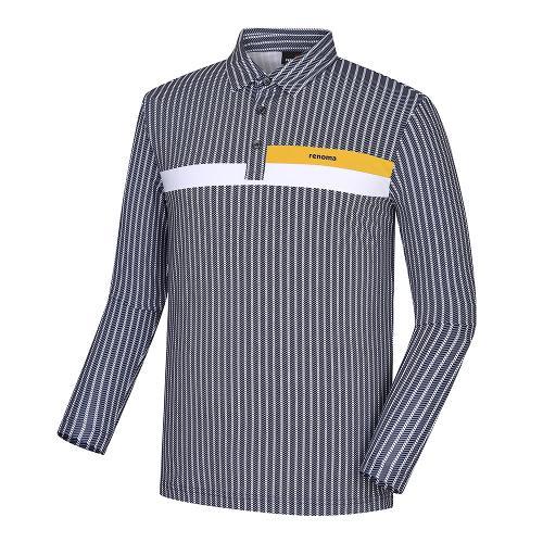 [레노마골프]남성 패턴 배색 포인트 카라 티셔츠 RMTYH3103-915_G