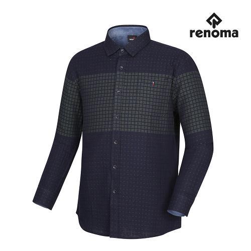 [레노마골프]남성 컬러 블록 자가드 셔츠 RMBSH3601-915_G