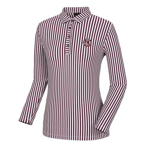 [레노마골프]여성 세로 스트라이프 카라 티셔츠 RWTYH7120-415_G