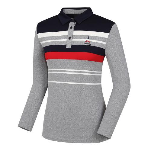 [레노마골프]여성 변형 스트라이프 카라 티셔츠 RWTYH7119-193_G