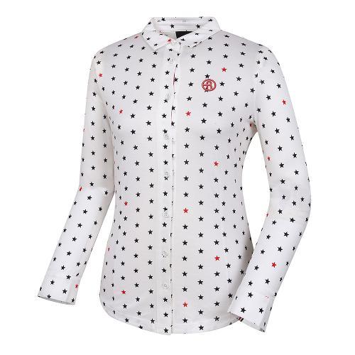 [레노마골프]여성 코튼 별패턴 카라 티셔츠 RWTYH7109-100_G