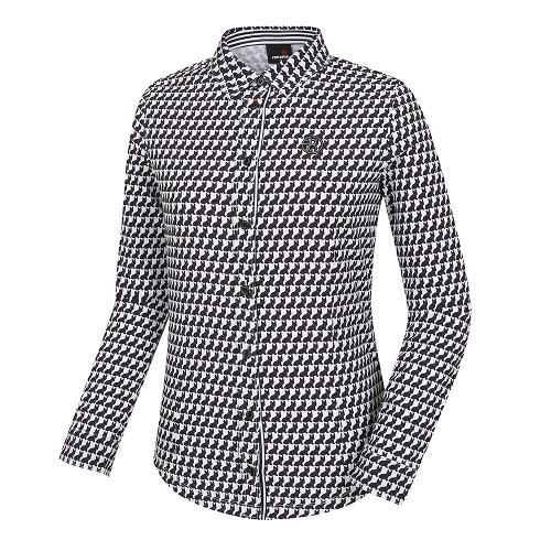 [레노마골프]여성 프렌치독 패턴 카라 티셔츠 RWTYH7108-199_G
