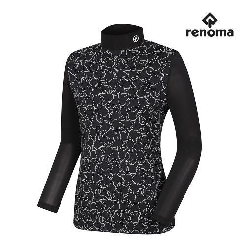 [레노마골프]여성 프렌치독 프린트 하이넥 티셔츠 RWTHH7103-199_G