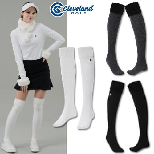 [클리브랜드골프] 날개사 장식 로고자수 여성 골프 니삭스/골프양말/골프용품_CGKWKS219p