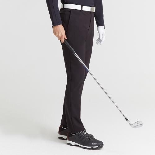 [볼빅골프웨어] 남성 골프 기모 솔리드 노턱 팬츠 VMPTK992_BK
