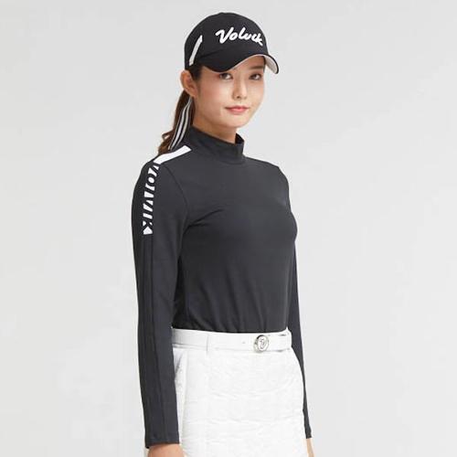 [볼빅골프웨어] 여성 골프 라인 반폴라 베이스레이어 VLBSK994_BK