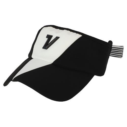 [볼빅골프웨어] 여성 골프 컬러배색 리본 포인트 바이저 VLAPL802_BK