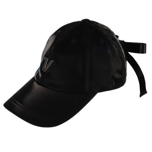 [볼빅골프웨어] 여성 골프 글로시 클립리본 6각 캡 모자 VLAPL804_BK