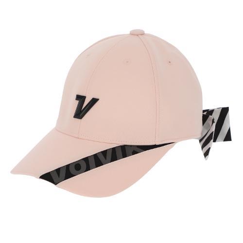 [볼빅골프웨어] 여성 골프 스트라이프 리본 6각 캡 모자 VLAPL803_LP