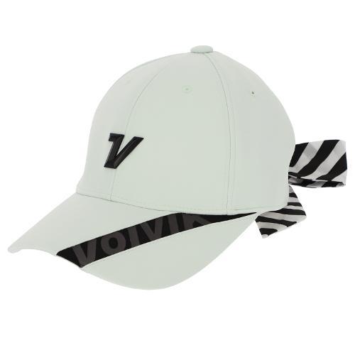 [볼빅골프웨어] 여성 골프 스트라이프 리본 6각 캡 모자 VLAPL803_LE