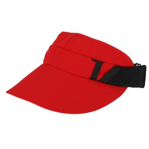 [볼빅골프웨어] 여성 골프 V로고 컬러 배색 바이저 VLAPL801_RE