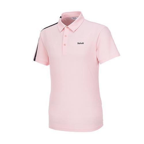 [볼빅골프웨어] 남성 골프 쿨링 어깨 배색 카라 반팔 티셔츠 VMTSLD91_PK