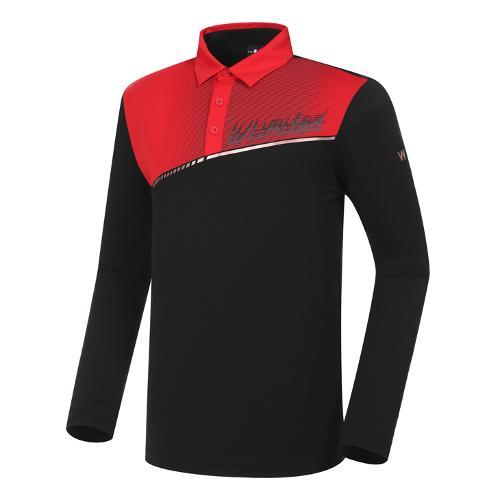 [와이드앵글] 남성 WL 가슴 웰딩포인트 긴팔 티셔츠 M WMU21204Z1