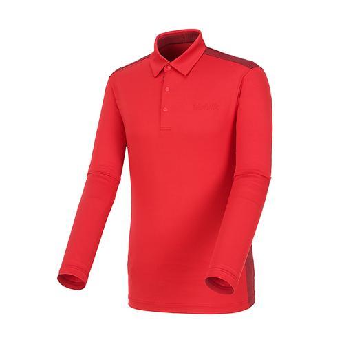 [볼빅골프웨어] 남성 골프 패턴 배색 카라 긴팔 티셔츠 VMTSL204_RE