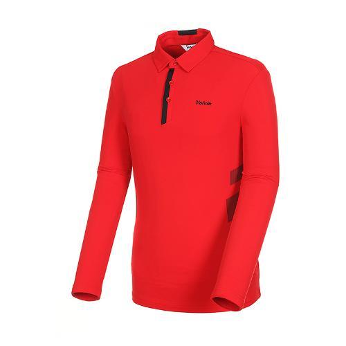 [볼빅골프웨어] 남성 골프 스트레치 카라 긴팔 티셔츠 VMTSK904_RE