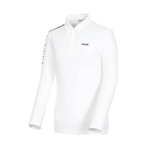 [볼빅골프웨어] 남성 골프 비비드 카라 긴팔 티셔츠 VMTSK910_OW