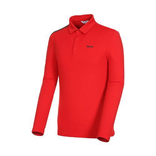 [볼빅골프웨어] 남성 골프 비비드 카라 긴팔 티셔츠 VMTSK910_RE
