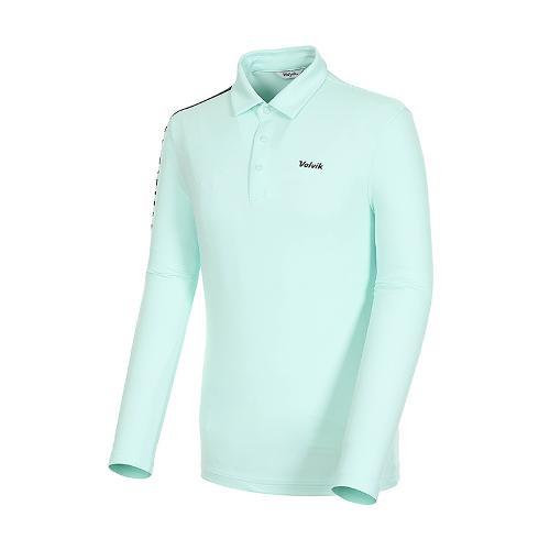 [볼빅골프웨어] 남성 골프 비비드 카라 긴팔 티셔츠 VMTSK910_MT