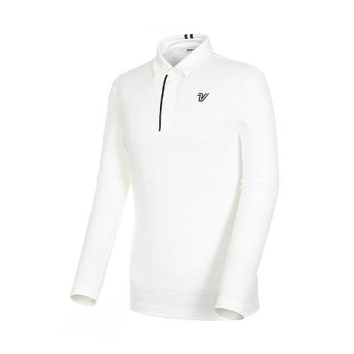 [볼빅골프웨어] 남성 골프 자카드 카라 긴팔 티셔츠 VMTSK906_OW