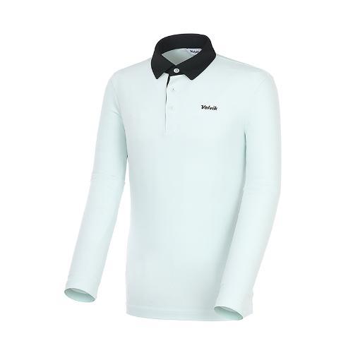 [볼빅골프웨어] 남성 골프 배색 카라 긴팔 티셔츠 VMTSK993_LL