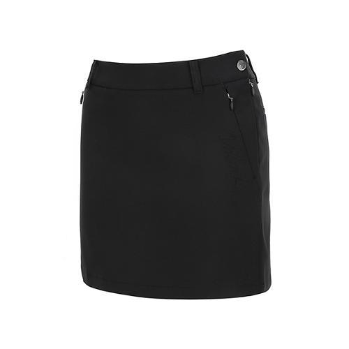 [볼빅골프웨어] 여성 골프 언발란스 밑단 큐롯 스커트 VLCUL211_BK