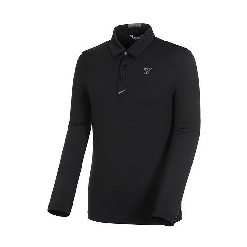 [볼빅골프웨어] 남성 골프 스트레치 카라 긴팔 티셔츠 VMTSK992_BK