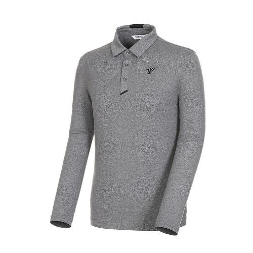 [볼빅골프웨어] 남성 골프 스트레치 카라 긴팔 티셔츠 VMTSK992_MG