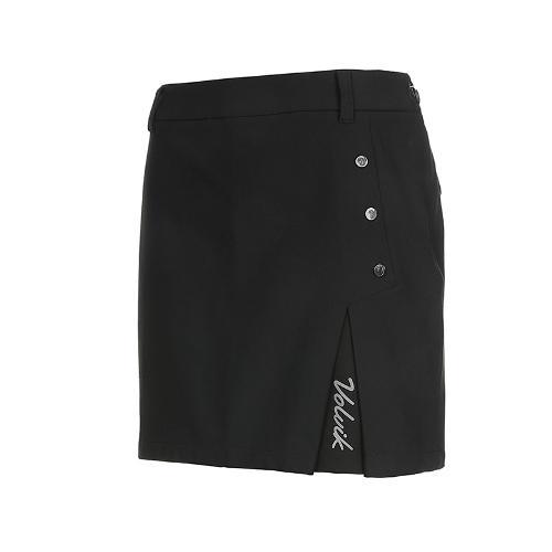[볼빅골프웨어] 여성 골프 버튼드 큐롯 스커트 VLCUK911_BK