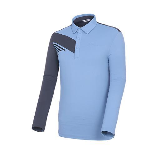 [볼빅골프웨어] 남성 골프 UV차단 배색 카라 긴팔 티셔츠 VMTSK201_LL