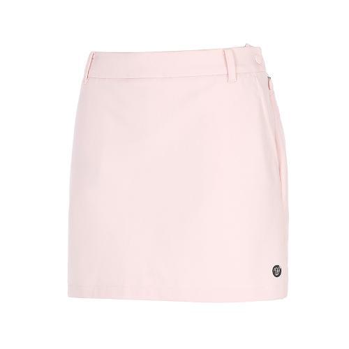 [볼빅골프웨어] 여성 골프 배색 솔리드 큐롯 스커트 VLCUK991_LP