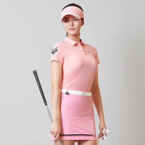 [볼빅골프웨어] 여성 골프 메쉬 컬러풀 라인 큐롯 스커트 VLCUK310_LP