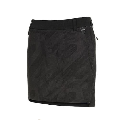 [볼빅골프웨어] 여성 골프 사선 패턴 큐롯 스커트 VLCUK212_BK