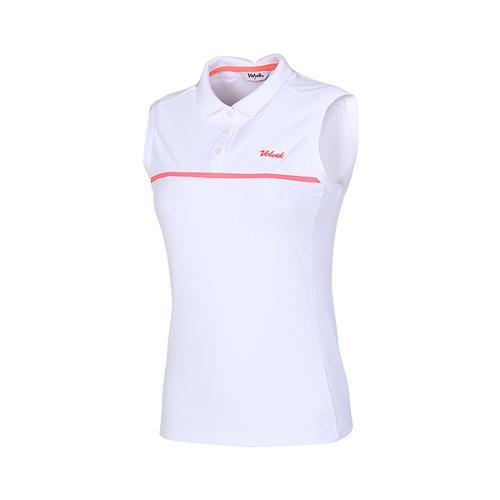 [볼빅골프웨어] 여성 골프 스트레치 슬리브리스 티셔츠 VLTSI393_WH